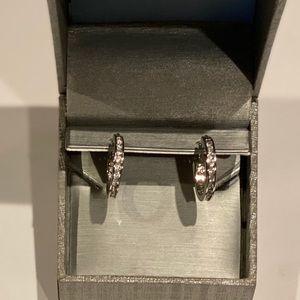 Brand new woman's Zales diamond accent earrings
